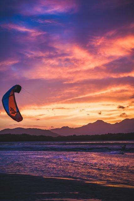 Punta Chame sunset kitesurfing