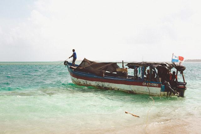San Blas islands boat