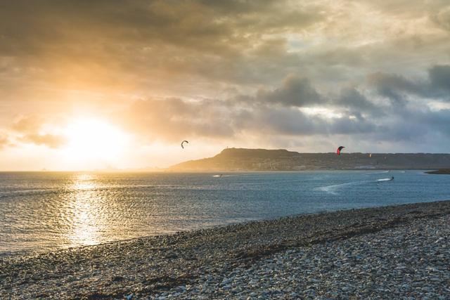 Weymouth kitesurfing