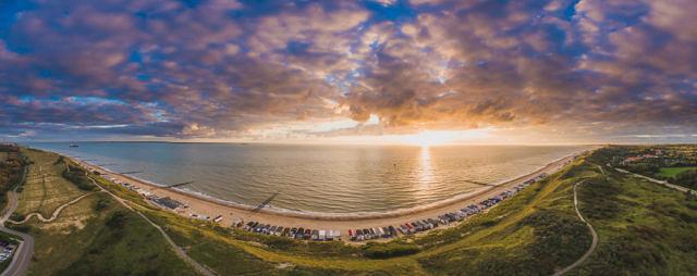 Dishoek sunset panorama