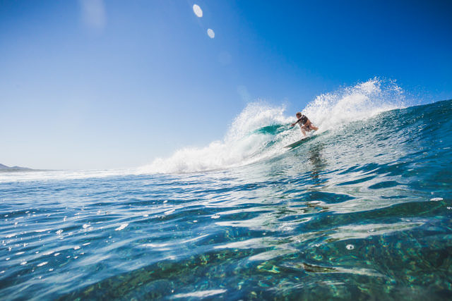 Sumbawa, Tropicals beach surfing