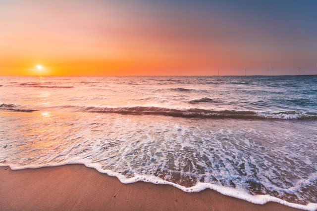 Veersedam sunset at the beach