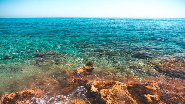 Crete Stalida blue sea