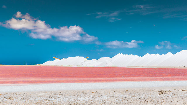 Pink salt pans