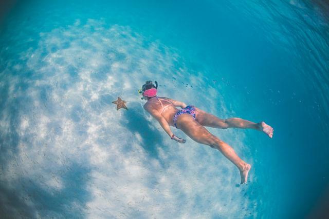 Savine snorkeling