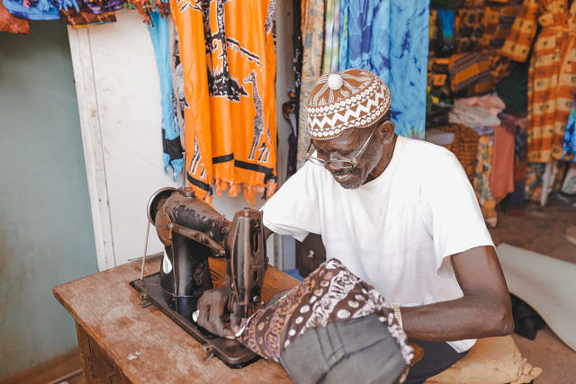 Clothing merchant in Gambia