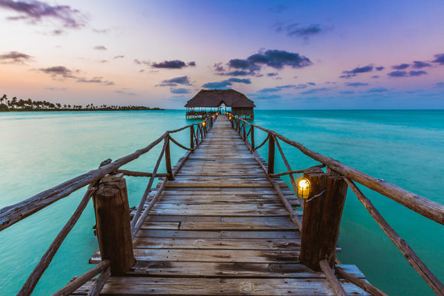 Zanzibar jetty sunset
