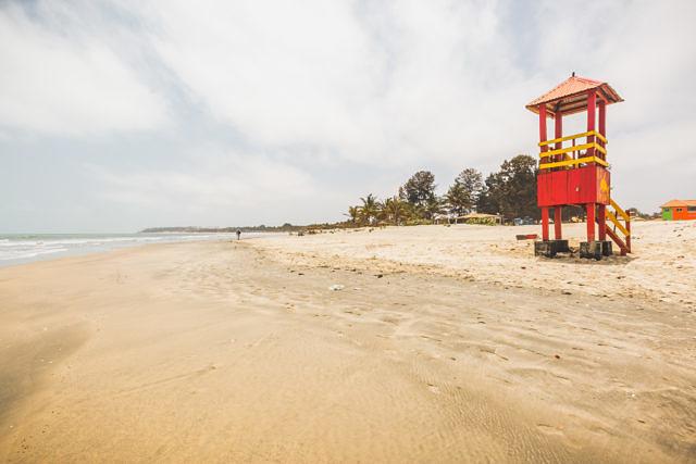Gambia beach tower