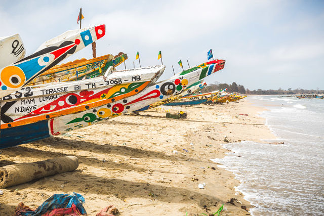 Fishing village Gambia