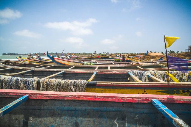 Gambia fishing village