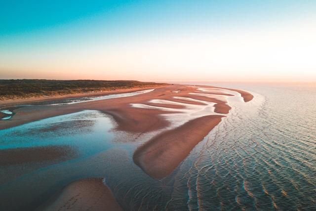 Breezand beach aerial