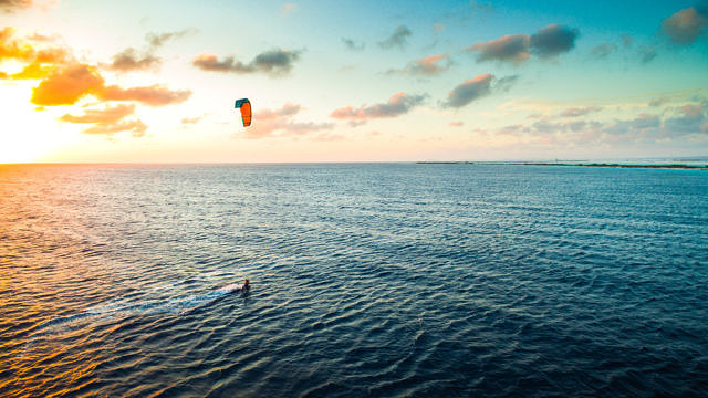 Christiaan Zweers kiting at Atlantis kitebeach