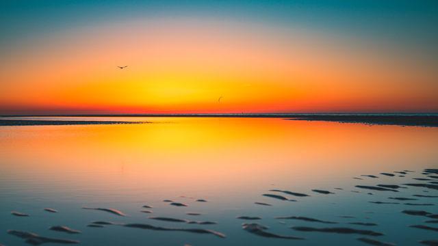 Breezand sunset