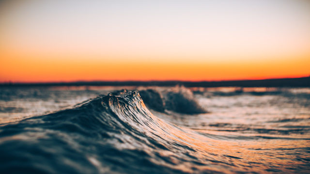 Small waves in Ayamonte, Andalucía