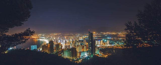 Benidorm skyline at night