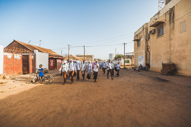 Gambia schoolkids