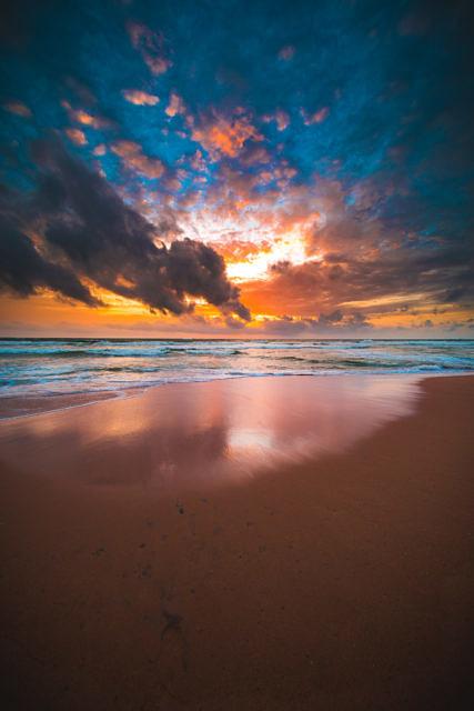 Sri Lanka beach at sunset