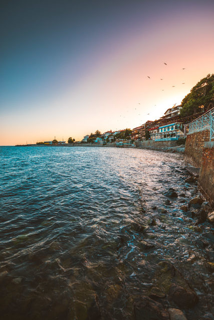 Nessebar old town sunset