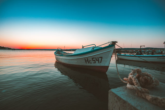 Nessebar old town boats