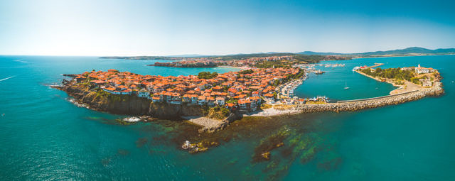 Sozopol old town panorama
