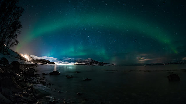 Norway in winter, Northern lights in Alta