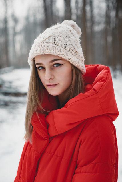 Lisa winter portrait shoot