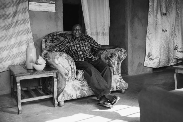 Kenya - Taita Hills, now living in a small village, but he was photographer for a big newspaper in Kenya