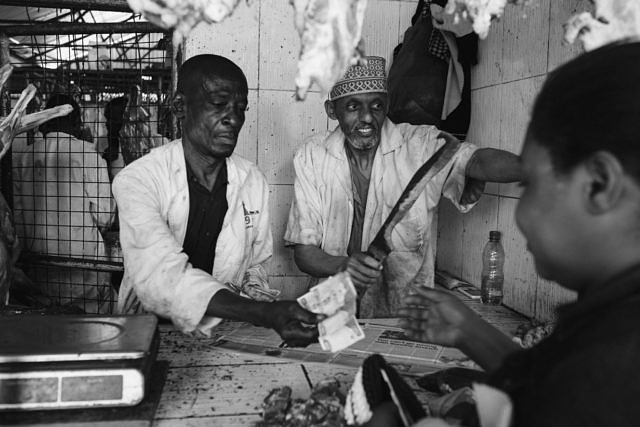 Kenya - Mombasa, the meat market