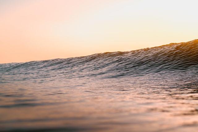 Domburg sunset waves