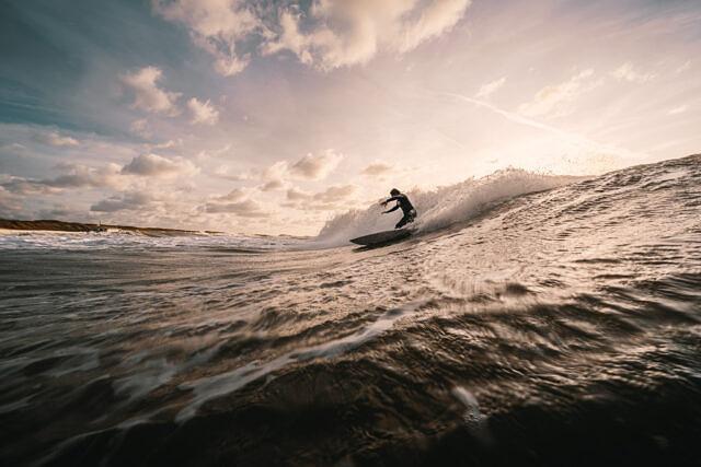 Domburg evening surf